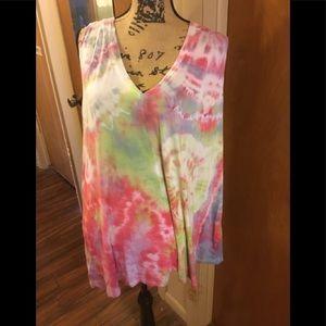 Tie dye top by Lane Bryant